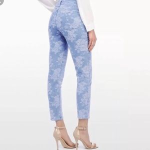 NYDJ Floral Embossed High Rise Skinny Ankle Jeans